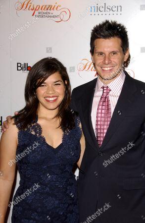 Stock Photo of America Ferrera and Silvio Horta