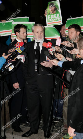 Akhmed Zakayev Chechen activist Akhmed Zakayev talks to the media after he was released by a regional court in Warsaw, Poland, . Zakayev, one of Russia's most wanted men, was arrested in Poland Friday on Russian charges related to Chechnya's separatist war of the 1990s, but later set free. Zakayev faces charges of murder, kidnapping and terrorism
