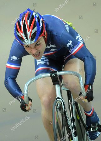 Sandie Clair France's Sandie Clair competes in the women's sprint final race during the European Track Cycling Championships in Pruszkow, near Warsaw, Poland