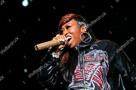 Missy Elliot Singer, Missy Elliot, performs at Padang Stage, on in Singapore