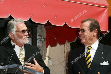 Sir Roger Moore and David Hedison