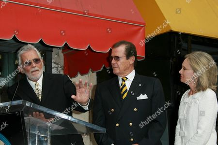 Stock Picture of Sir Roger Moore and David Hedison