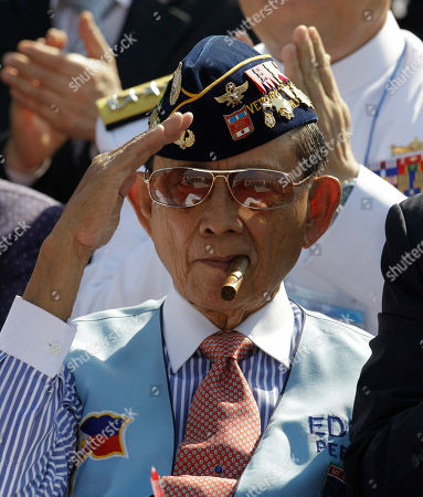 Fidel Ramos Former Philippine President Fidel Ramos, also Korean War veteran, salutes during the 60th Incheon Landing Operations Commemoration Ceremony, at sea near Incheon, the coastal city where United Nations Forces led by U.S. General Douglas MacArthur landed in September, 1950 just months after North Korea invaded the South