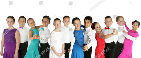 Stock Image of 'Baby Ballroom'  TV - 2007 - Picture Shows: Courtney O'Connor and Toby Lee, Luke Miller and Charlotte Plant, Amy Bryce and Oliver Ramsey, Chris Colebrook and Phoebe Ross, Rebecca Scott and Jordan Maguire, Elliot Murray Flint and Ayesha Chan.