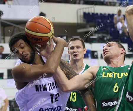 Benny Charles Anthony, Jonas Maciulis New Zealand's Benny Charles Anthony, left, drives to the basket as he is guarded by Lithuania's Jonas Maciulis during their World Basketball Championship preliminary round match in Izmir, Turkey