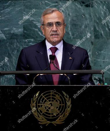 Editorial photo of UN General Assembly Lebanon, Xun