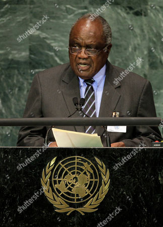 Hifikepunye Pohamba President of Namibia, Hifikepunye Pohamba, addresses a summit on the Millennium Development Goals at United Nations headquarters