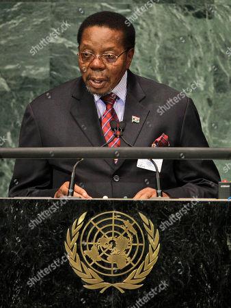Bingu Wa Mutharika Bingu Wa Mutharika, President of the Republic of Malawi, addresses a summit on the Millennium Development Goals at United Nations headquarters