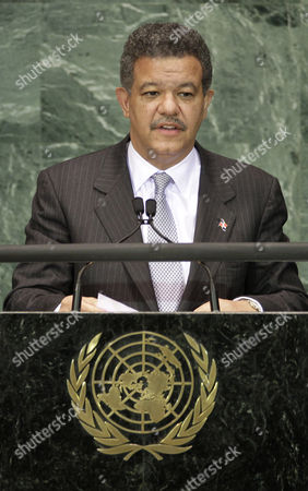 Leonel Fernandez Reyna Leonel Fernandez, President of the Dominican Republic, addresses a summit on the Millennium Development Goals at United Nations headquarters