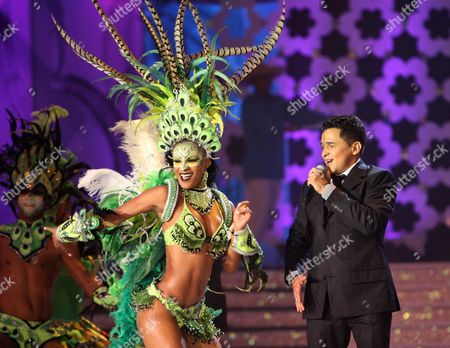 Jorge Celedon Colombia's singer Jorge Celedon, right, performs during the Miss Venezuela 2010 beauty pageant in Maracaibo, Venezuela