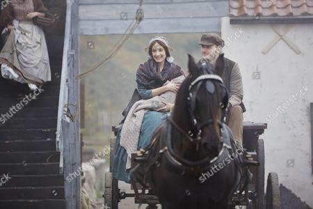 Stock Image of Joanne Froggatt as Mary Ann and Tom Varey as Billy Mowbray