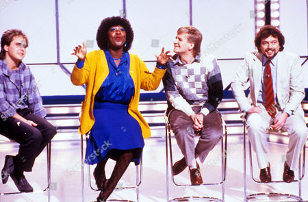 'Game For A Laugh' - 1981 TV Presenters L-R: Martin Daniels, Rustie Lee Lee Peck and Jeremy Beadle.