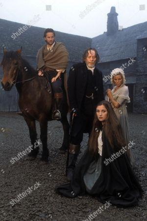 'Jamaica Inn' - 1985  Picture shows -  Mary Yellan  (Jane Seymour), Joss Merlyn (Patrick McGoohan), Jem (Trevor Eve) and Patience (Billie Whitelaw)