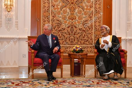 Stock Picture of Prince Charles and Sayyid Haitham Bin Tariq Al Said