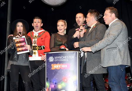 Brooke Vincent, LM of Manchester, Louisa Johnson, Paddy McGuinness, Mike Toolan and John Thomson.