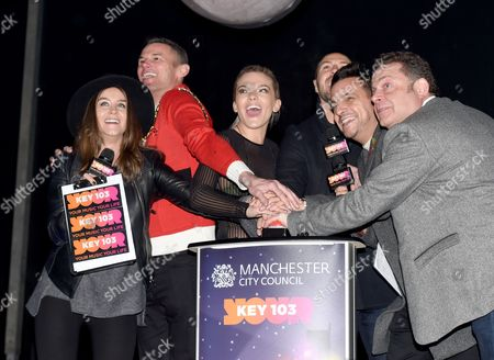 Editorial photo of Manchester Christmas Lights Switch On, UK - 04 Nov 2016