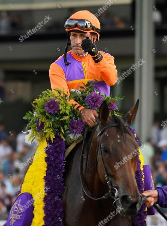 Gary Stevens Gary Stevens celebrates after Beholder won the Breeders' Cup Distaff horse race at Santa Anita, in Arcadia, Calif