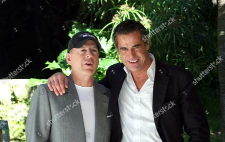 Bruce Willis and Edoardo Costa