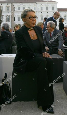 Marina Doria wife of Vittorio Emanuele of Savoia attends the inauguration of the Royal Palace of Venaria, Palace of Savoia family, which has taken 7 years and 250 million euros to restore