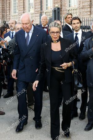 Vittorio Emanuele of Savoia and wife Marina Doria attend the inauguration of the Royal Palace of Venaria, Palace of Savoia family, which has taken 7 years and 250 million euros to restore