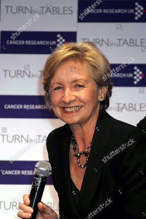 Sue lawley at Cancer Research UK 'Turn the Tables' Event in Which Interviewers Are Interviewed.