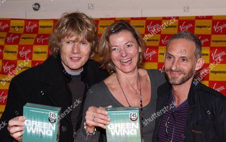 Julian Rhind Tutt, Pippa Haywood and Karl Theobald