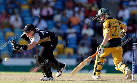 Rachel Priest, Jessica Cameron New Zealand's wicket keeper Rachel Priest, left, intercepts a shot off Australia's Jessica Cameron at the Twenty20 Cricket World Cup final women match in Bridgetown, Barbados