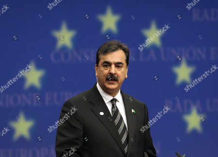 Syed Yousuf Raza Gilani Pakistan's Prime Minister Syed Yousuf Raza Gilani addresses the media at the European Council building in Brussels