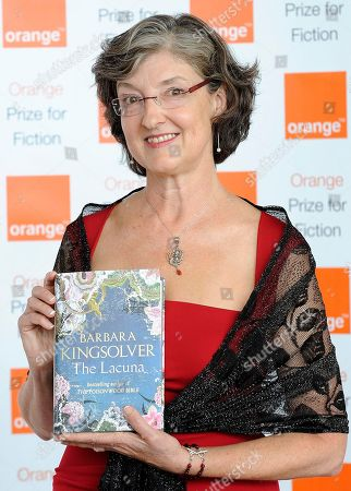 Barbara Kingsolver Winner of the 2010 Orange Prize for Fiction Barbara Kingsolver, poses for photographs at the award ceremony in London Wednesday, June, 9, 2010. Kingsolver won with her book entitled The Lacuna