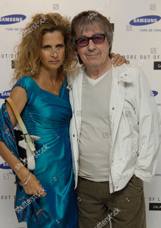 Suzanne Accosta, Bill Wyman British musician Bill Wyman and wife Suzanne Accosta attend the Samsung launch of its Galaxy S phone in Millbank, south west London