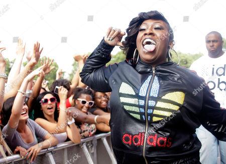 Missy Elliot U.S singer Missy Elliot walks down to greet fans during her performance at the Wireless Festival in Hyde Park, London