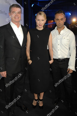 Tom Murry (President and COO of Calvin Klein), Naomi Watts, and Francisco Costa