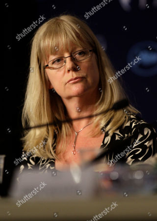 """Georgina Lowe Producer Georgina Lowe attends a press conference for """"Another Year"""", at the 63rd international film festival, in Cannes, southern France"""