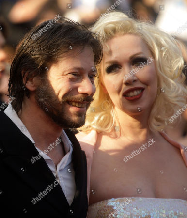 Mimi Le Meaux, Mathieu Almaric Director Mathieu Almaric, left, and actress Mimi Le Meaux, right, arrive for the awards ceremony at the 63rd international film festival, in Cannes, southern France