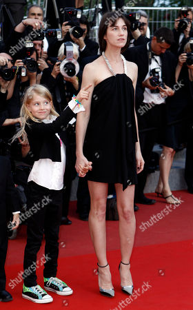 Charlotte Gainsbourg, Morgana Davies Actress Charlotte Gainsbourg, right, and actress Morgana Davies, left, arrive for the awards ceremony at the 63rd international film festival, in Cannes, southern France