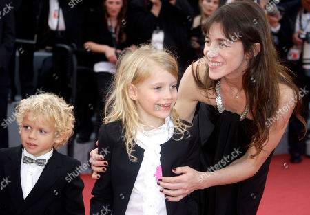 Charlotte Gainsbourg, Morgana Davies Actress Charlotte Gainsbourg, right, and actress Morgana Davies, center, and an unidentified child arrive for the awards ceremony at the 63rd international film festival, in Cannes, southern France