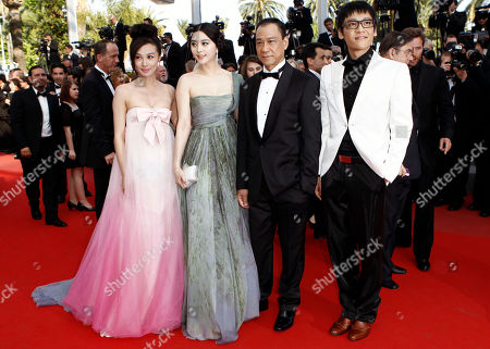 Li Feier, Fan Bingbing, Zi Yi From left, actress Li Feier, actress Fan Bingbing, an unidentified guest and actor Zi Yi arrive for the awards ceremony at the 63rd international film festival, in Cannes, southern France