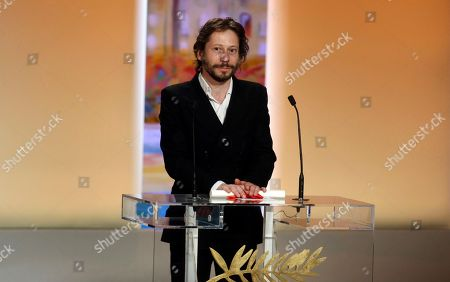 Mathieu Almaric Director Mathieu Almaric after winning the Best Director award during the awards ceremony at the 63rd international film festival, in Cannes, southern France