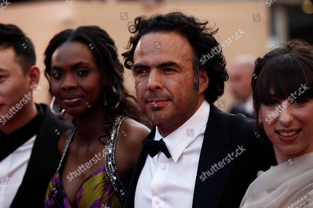 "Diaryatou Daff, Alejandro Gonzalez Inarritu, Maricel Alvarez From left, actress Diaryatou Daff, director Alejandro Gonzalez Inarritu and actress Maricel Alvarez arrive for the screening of ""Biutiful"", at the 63rd international film festival, in Cannes, southern France"