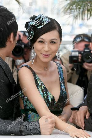 "Li Feier Actress Li Feier poses during a photo call for ""Chongqing Blues"", at the 63rd international film festival, in Cannes, southern France"