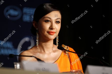 "Li Feier Actress Li Feier attends a press conference for ""Chongqing Blues"", at the 63rd international film festival, in Cannes, southern France"
