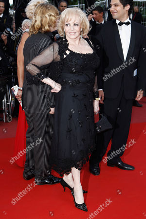 """Michele Mercier Actress Michele Mercier arrives for the screening of the film """"Des Hommes Et Des Dieux"""", at the 63rd international film festival, in Cannes, southern France"""