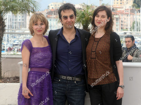 Dinara Droukarova, Atom Egoyan, Emmanuelle Devos From left, Jury Cinefondation member Dinara Droukarova, Jury Cinefondation president Atom Egoyan and Jury Cinefondation member Emmanuelle Devos pose during a photo call for the Jury Cinefondation, at the 63rd international film festival, in Cannes, southern France