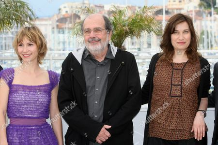 Dinara Droukarova, Carlos Diegues, Emmanuelle Devos Jury Cinefondation members, from left, Dinara Droukarova, Carlos Diegues and Emmanuelle Devos pose during a photo call for the Jury Cinefondation, at the 63rd international film festival, in Cannes, southern France