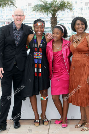 "Oliver Schmitz, Lerato Mvelase, Khomotso Manyaka, Harriet Manamela From left, director Oliver Schmitz and actresses Lerato Mvelase, Khomotso Manyaka and Harriet Manamela pose during a photo call for the film ""Life, Above All"", at the 63rd international film festival, in Cannes, southern France"