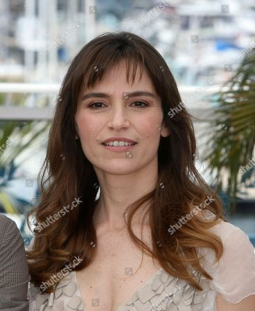 """Stefania Montorsi Actress Stefania Montorsi poses during a photo call for the film """"Our Life"""" (La Nostra Vita), at the 63rd international film festival, in Cannes, southern France"""