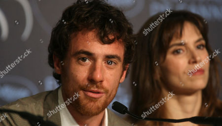 """Elio Germano, Stefania Montorsi Actor Elio Germano, left, and actress Stefania Montorsi pose during a press conference for the film """"Our Life"""" (La Nostra Vita), at the 63rd international film festival, in Cannes, southern France"""