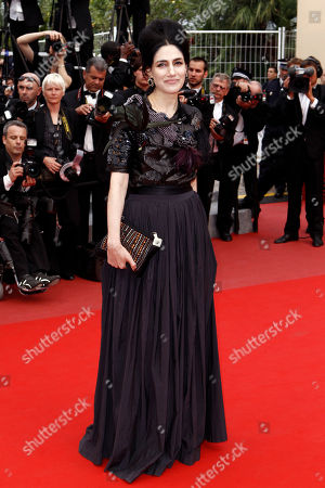 """Ronit Elkabetz Actress Ronit Elkabetz arrives for the screening of """"Outside the Law"""", at the 63rd international film festival, in Cannes, southern France"""