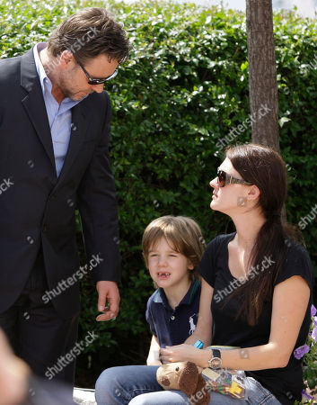 "Russell Crowe, Charles Spencer Crowe Actor Russell Crowe, left, and his son Charles Spencer Crowe, center, are seen before a photo call for the film ""Robin Hood"", at the 63rd international film festival, in Cannes, southern France"