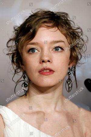 "Olga Shuvalova Actress Olga Shuvalova attends a press conference for the film ""Schastye Moe"", at the 63rd international film festival, in Cannes, southern France"